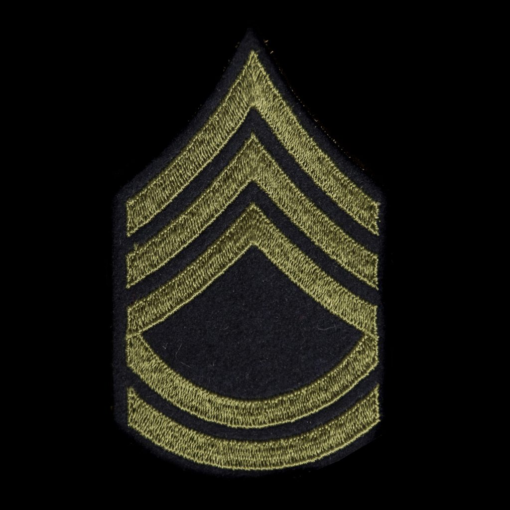 US Army Enlisted Men Technical Sergeant Chevron