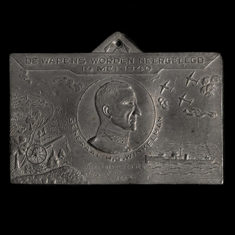 Herinnerings plaquette Generaal Winkelman